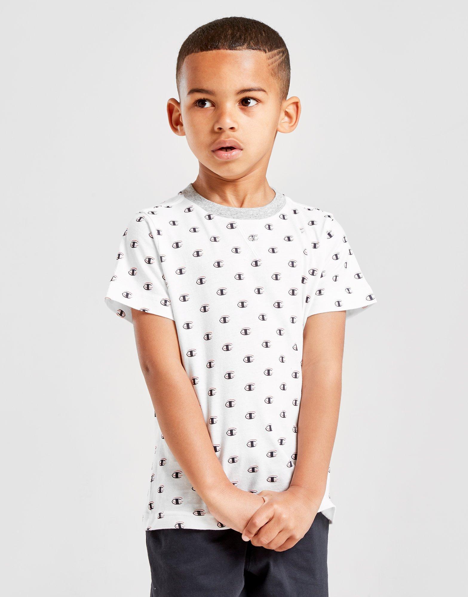 informacje dla stabilna jakość konkurencyjna cena Details about New CHAMPION Legacy All Over Print T-Shirt Children