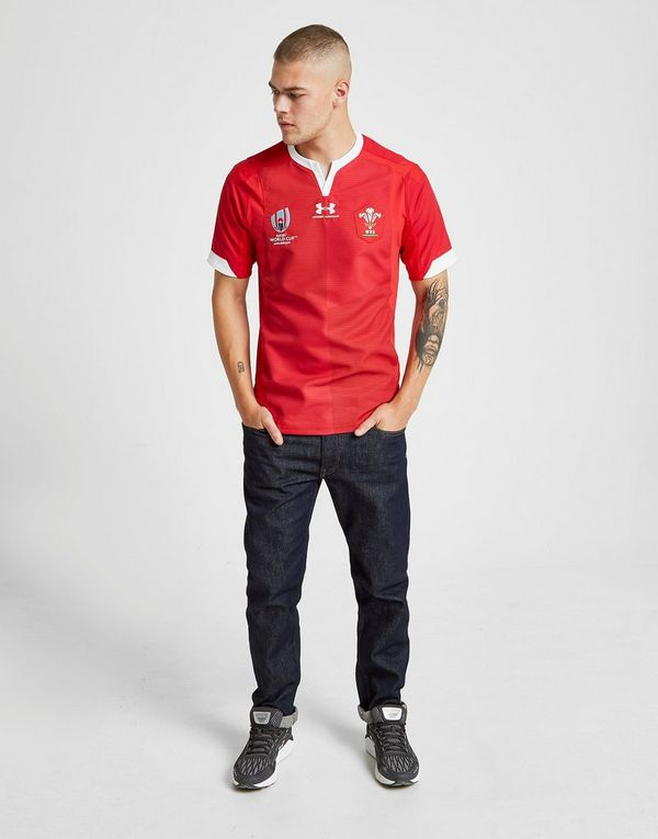 Under Armour Wales RU Rugby World Cup 2019 Authentic Shirt Heren