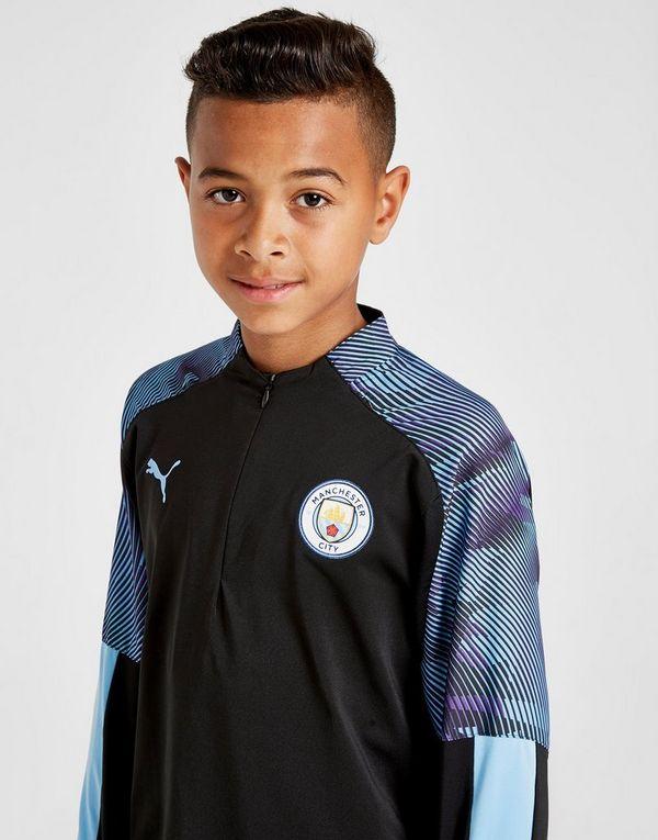 PUMA Manchester City FC 1/4 Zip Top Junior