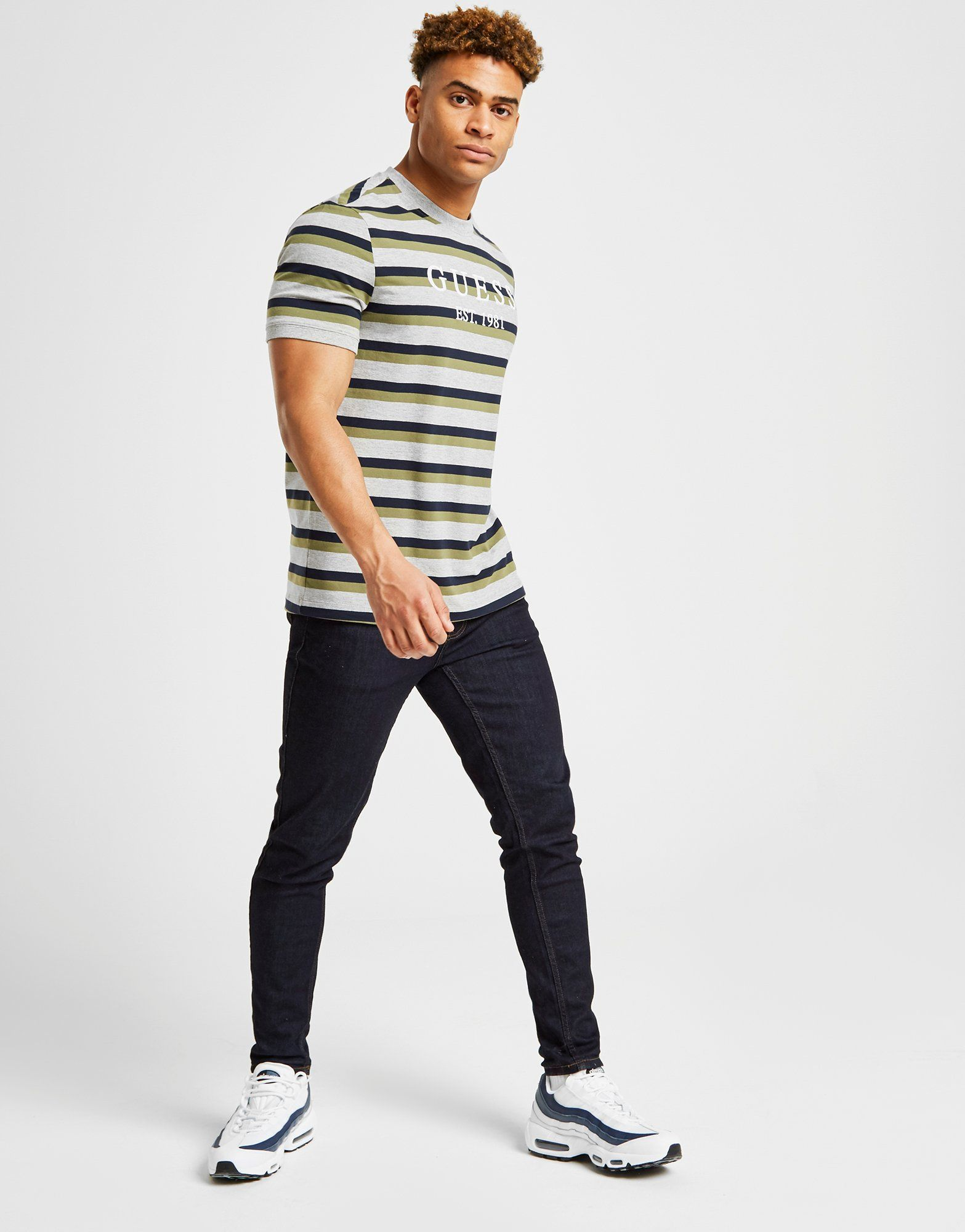 GUESS Stripe Logo T-Shirt