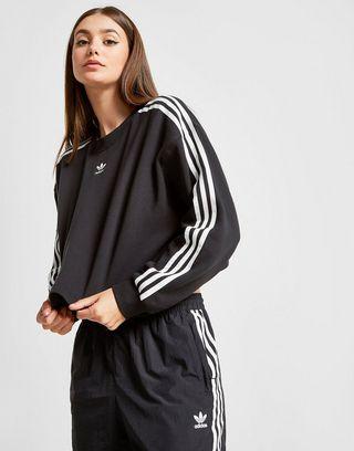 adidas Originals 3-Stripes Crop Crew Sweatshirt
