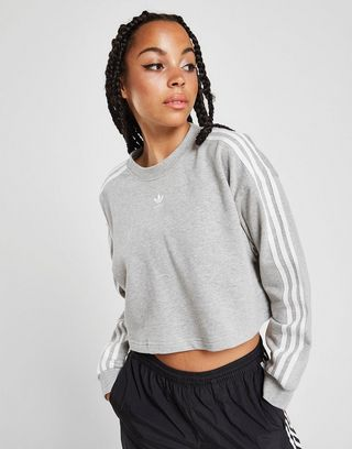 adidas Originals 3 Stripes Crop Sweatshirt Damen | JD Sports