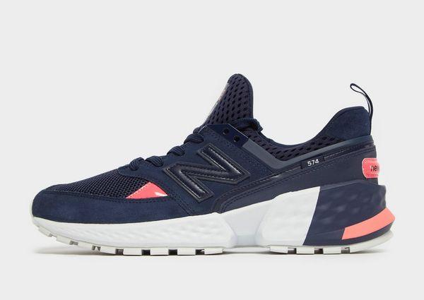 new balance 574 sport blauw