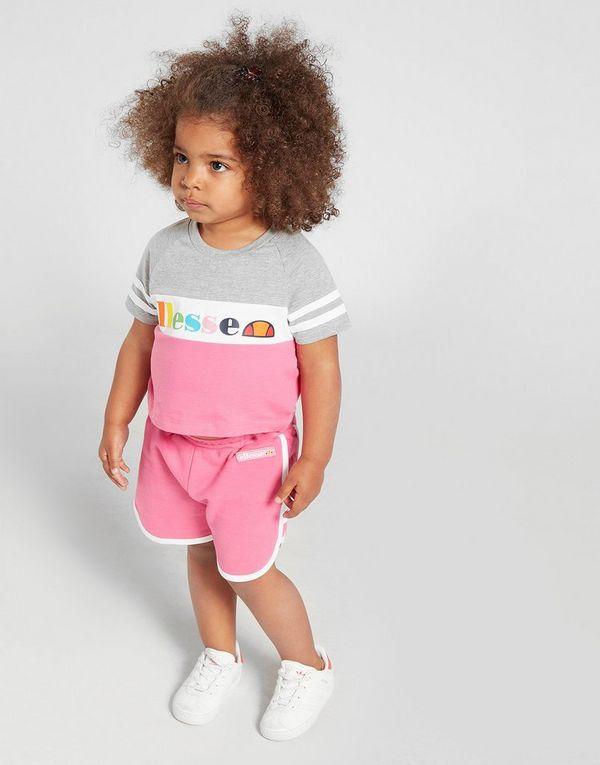 a7712b8394d0d Ellesse Girls  Amapola T-Shirt Shorts Set Infant