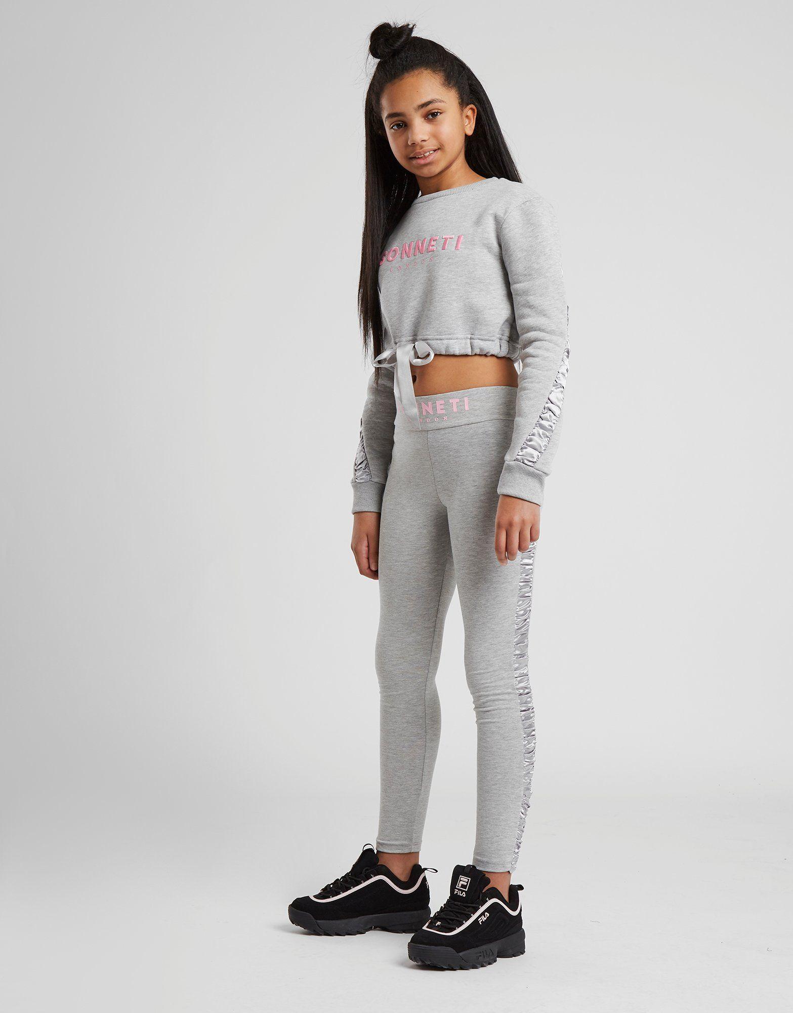 Sonneti Girls' Naomi Ruched Crew Sweatshirt Junior