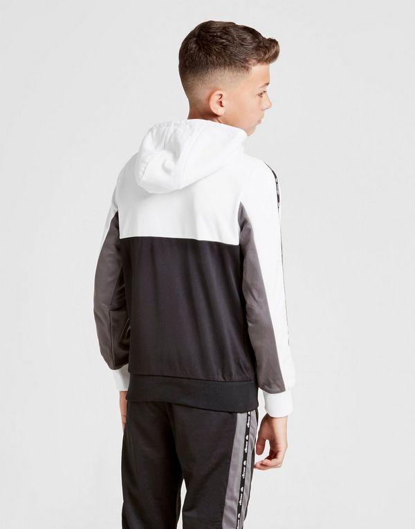 Ellesse Colour Block Poly Full Zip Hoodie Junior