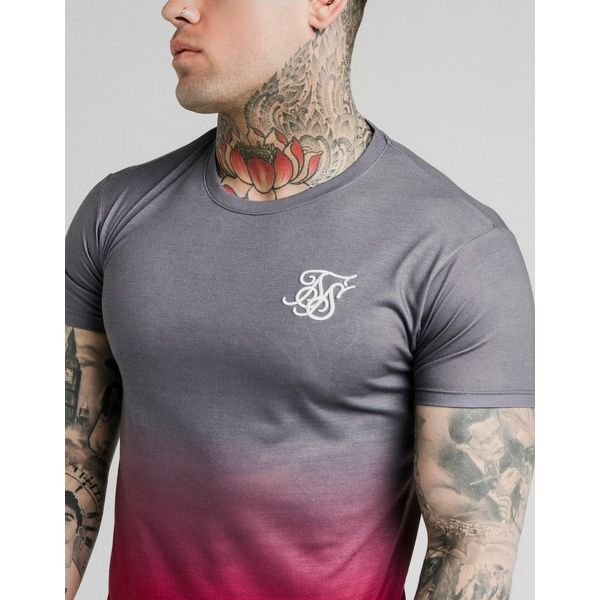 SikSilk Fade T-Shirt Heren