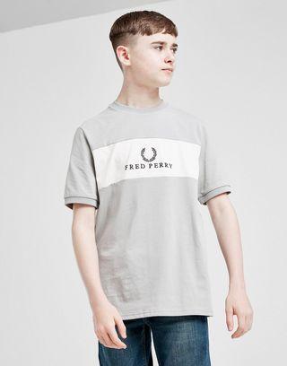 Fred Perry Colour Block Logo T-Shirt Junior