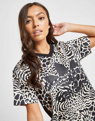 adidas Originals Print Leopard T Shirt Damen   JD Sports
