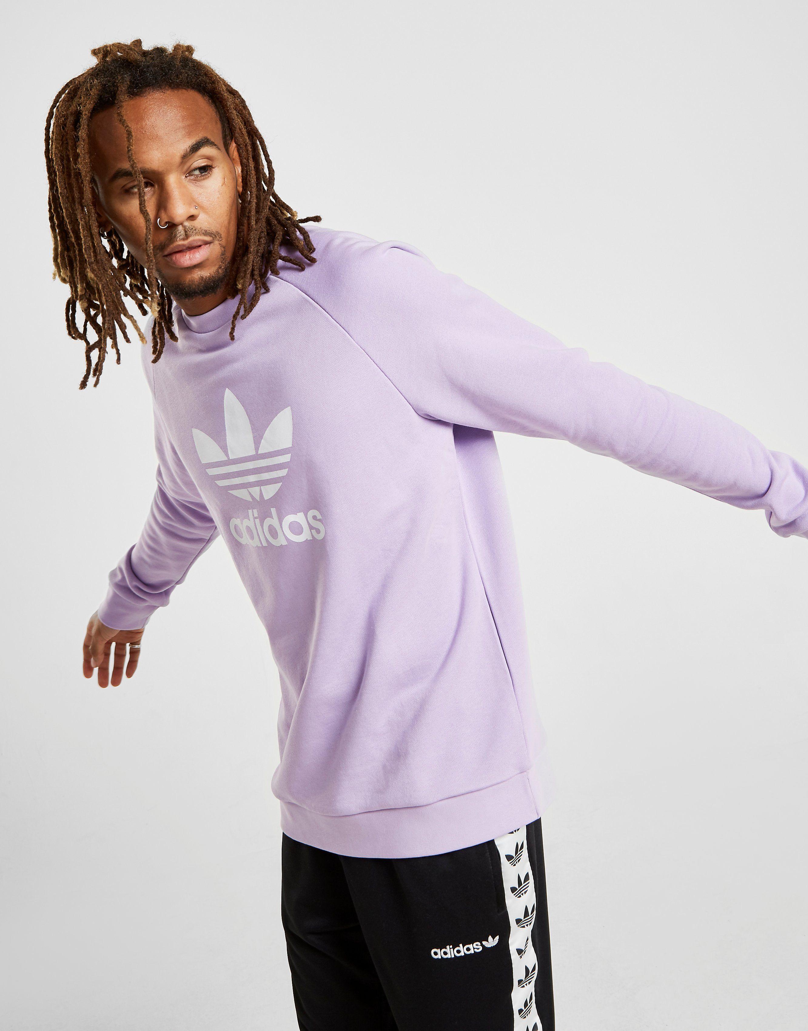 651616a798ab Adidas Originals Trefoil Crew Sweatshirt Pink - raveitsafe