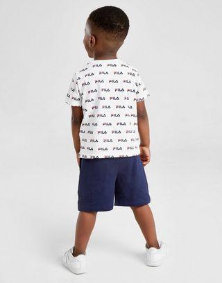 Fila All Over Print T-Shirt/Shorts Set Infant