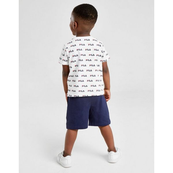 Fila All Over Print T-Shirt/Shorts Set Baby's
