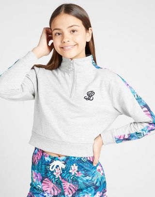 ILLUSIVE LONDON Girls' Crop Sweatshirt Kinder