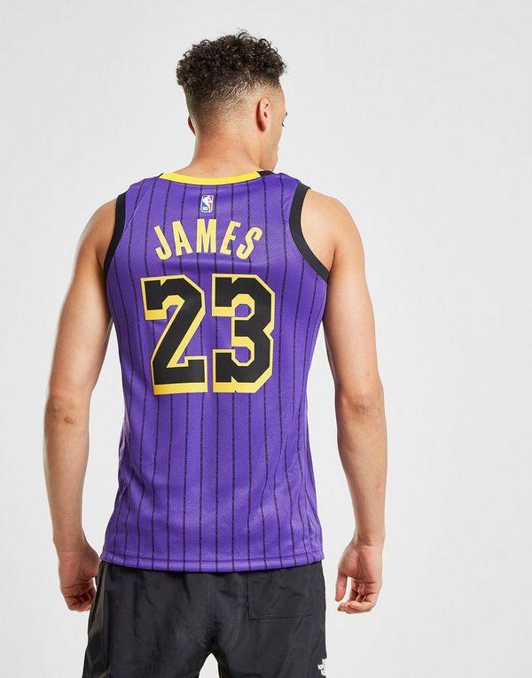 Nike NBA Los Angeles Lakers James  23 City Jersey  c0e669d6d