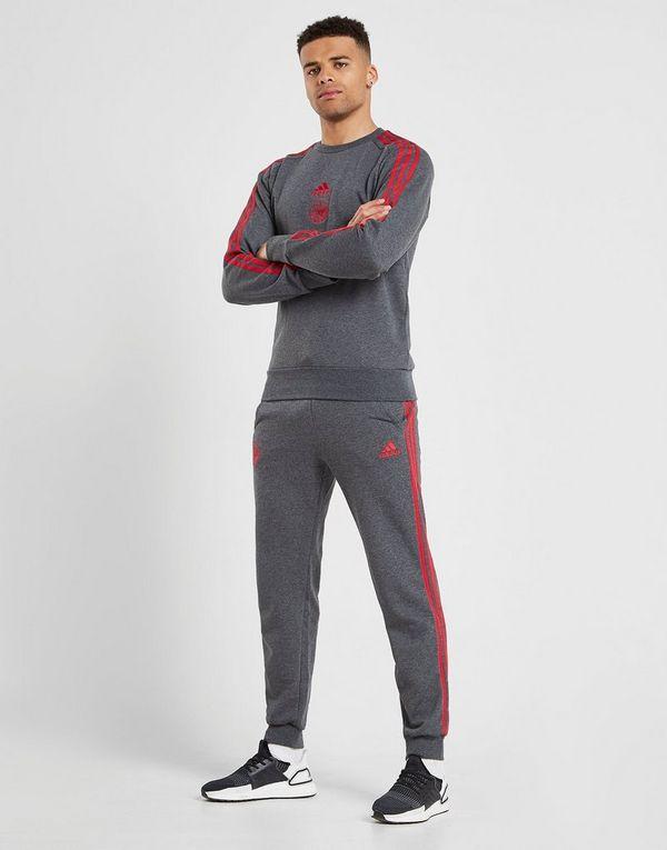 adidas Ajax 3-Stripes Crew Sweatshirt Heren | JD Sports