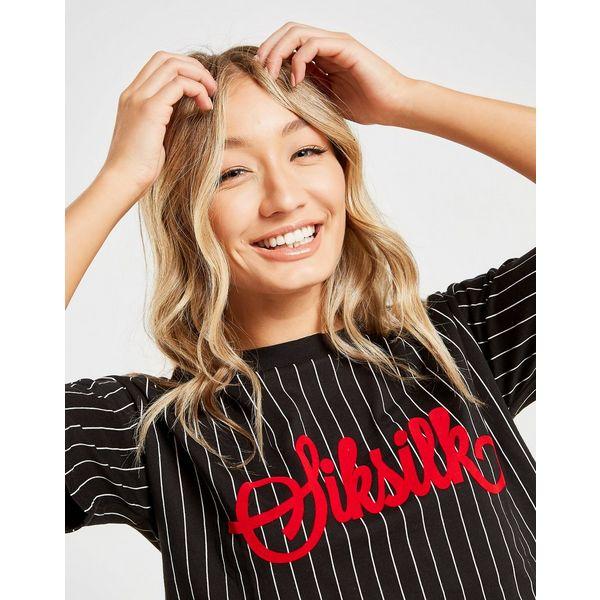 SikSilk Baseball Crop T-Shirt Dames