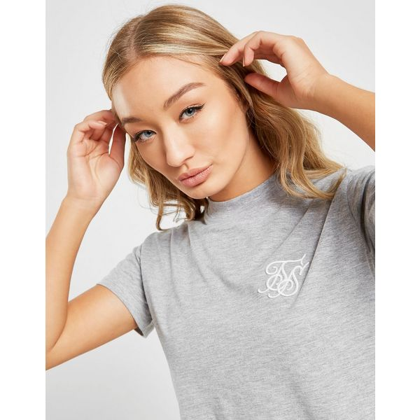 SikSilk Crop T-Shirt Dames