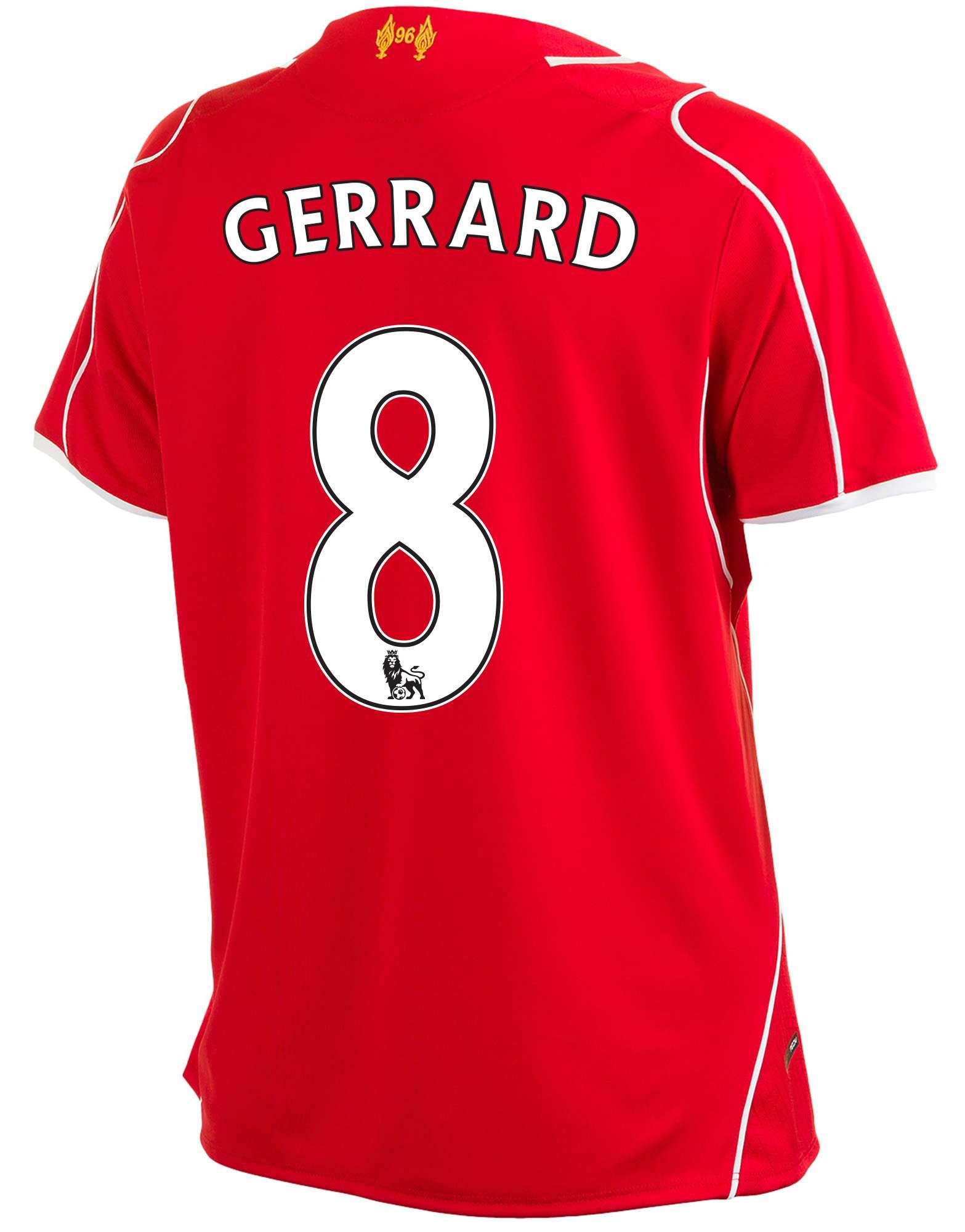 Warrior Sports Liverpool 2014 Junior Gerrard Home Shirt