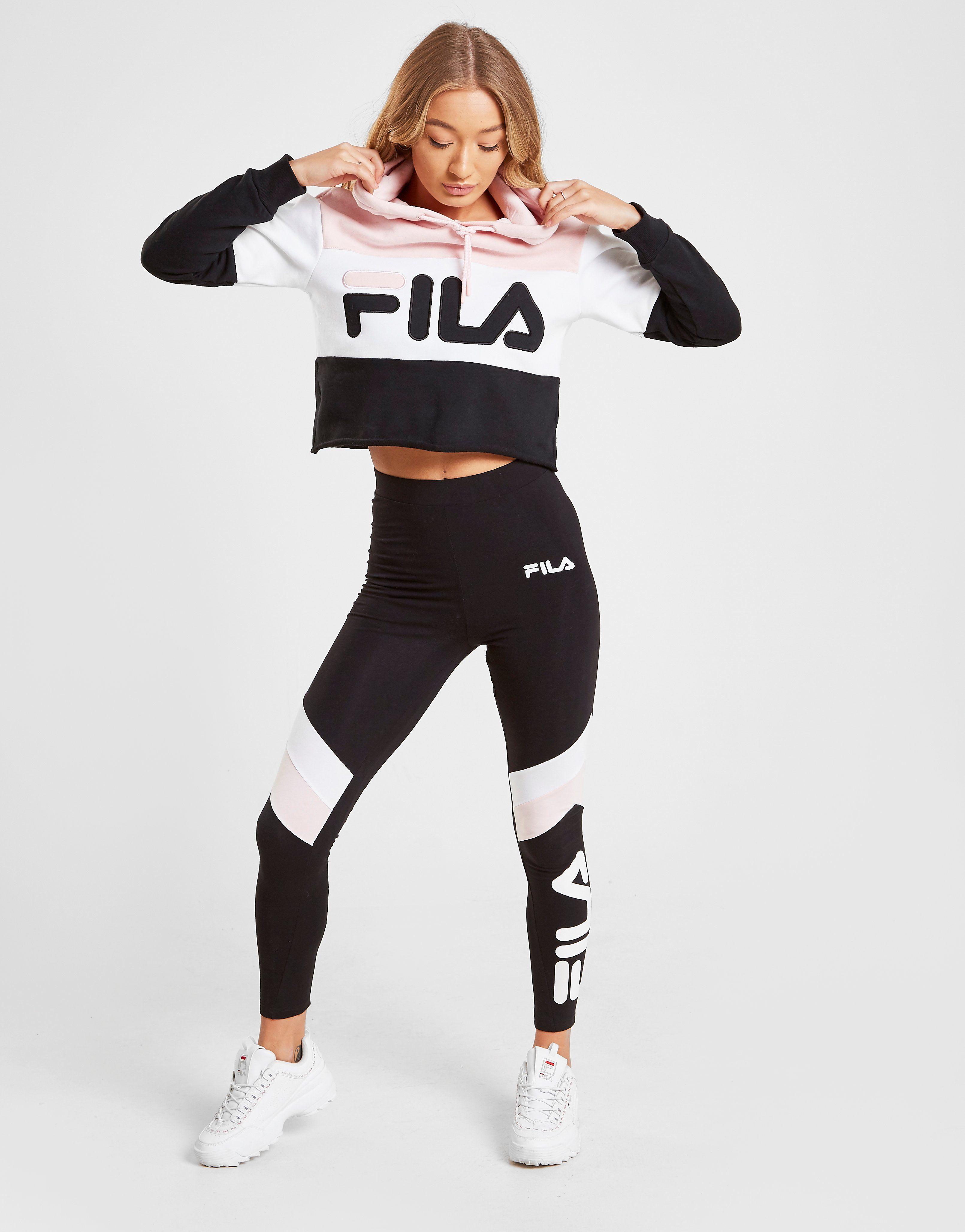 Fila Sweat à capuche Colour Block Crop Femme