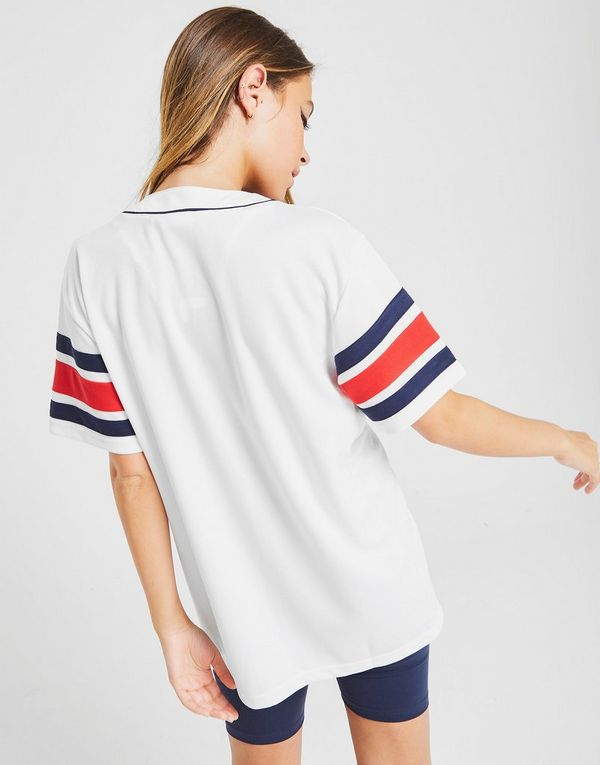 grossiste 64439 e841a Sports T Fila Baseball FemmeJd Shirt Stripe v7mfYbI6gy
