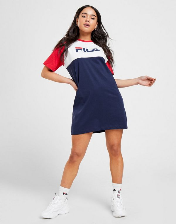 Fila Colour Block T-Shirt Dress Dames