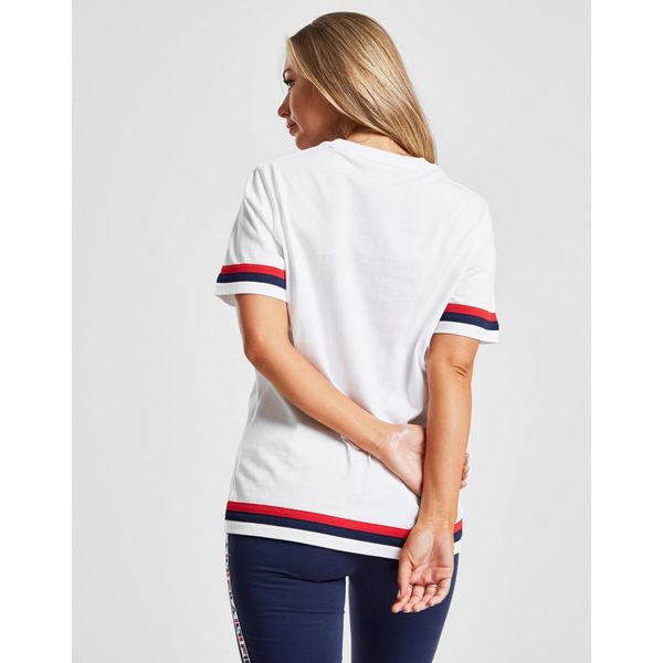 Fila Stripe Boyfriend T-Shirt Dames