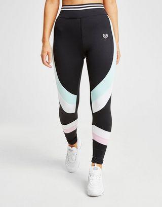 Pink Soda Sport Stripe Tights