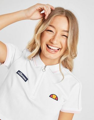 Ellesse Piping Crop Polo Shirt