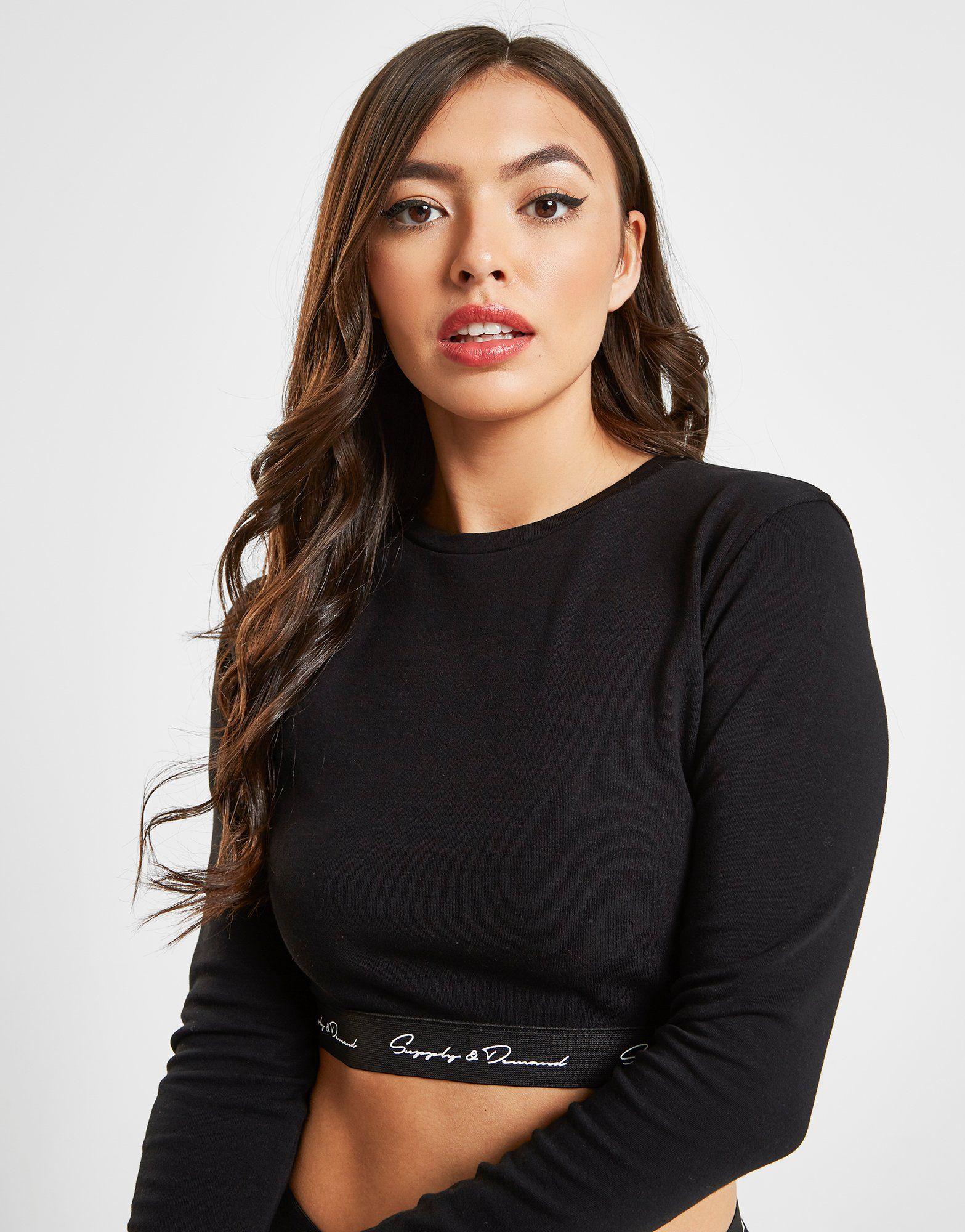 Supply & Demand Sole Crop Long Sleeve T-Shirt