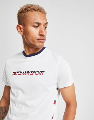 Tommy Hilfiger Logo Side Tape T Shirt | JD Sports