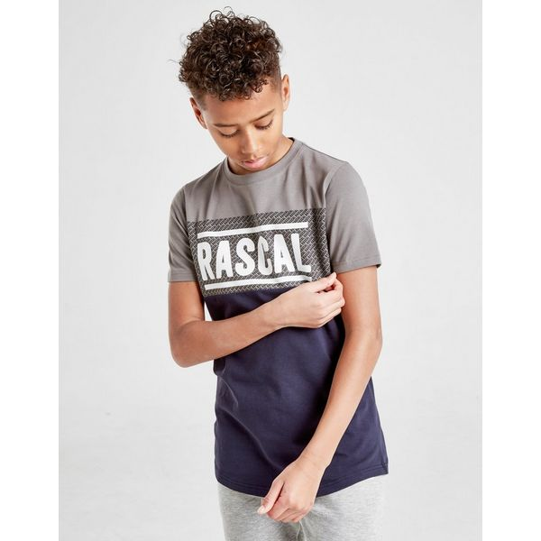 Rascal Colour Block All Over Print Infill T-Shirt Junior