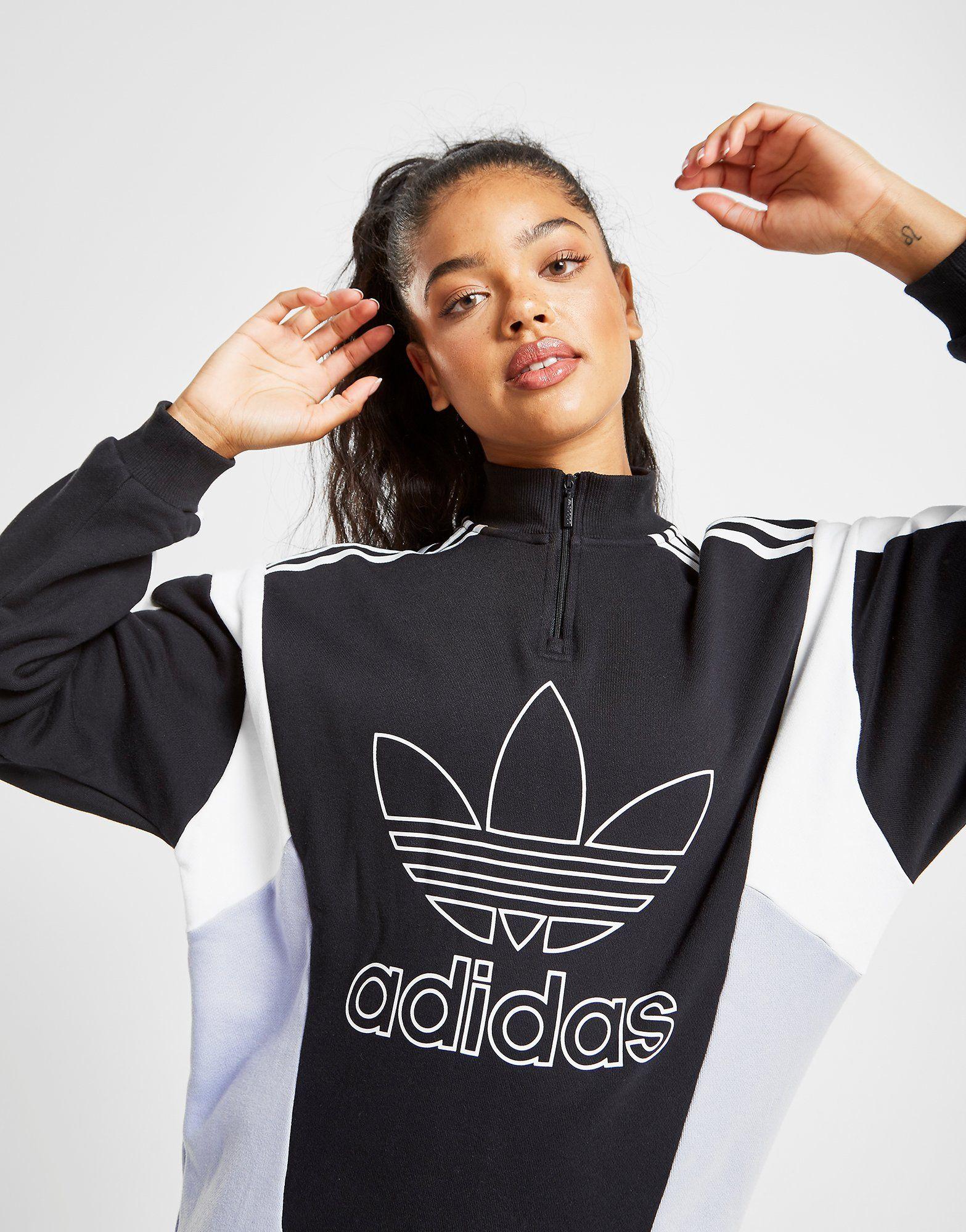 14 Colour Block Sweat FemmeJd Shirt Adidas Originals Zippé Sports dshQrCtx