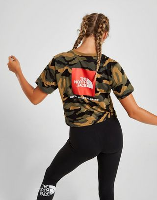The North Face Crop Box Logo T-Shirt Damen