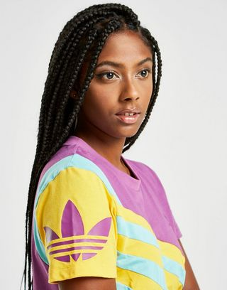 adidas Originals '90s Colour Block Crop T-Shirt