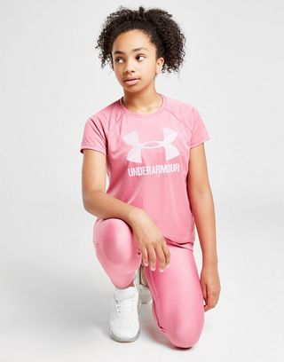 Under Armour Girls' Large Logo T-Shirt Junior