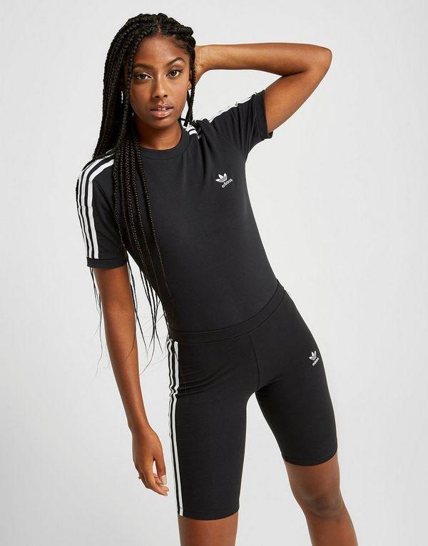 adidas Originals 3-Stripes Short Sleeve Bodysuit Dames