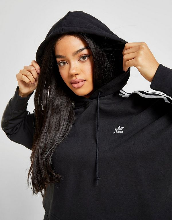 adidas Originals 3-Stripes Crop Overhead Hoodie Dames | JD ...