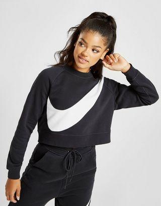 Nike Oversized Swoosh Logo Crew Sweatshirt