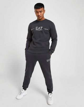 Emporio Armani EA7 Sweat-shirt Central Logo Crew Homme