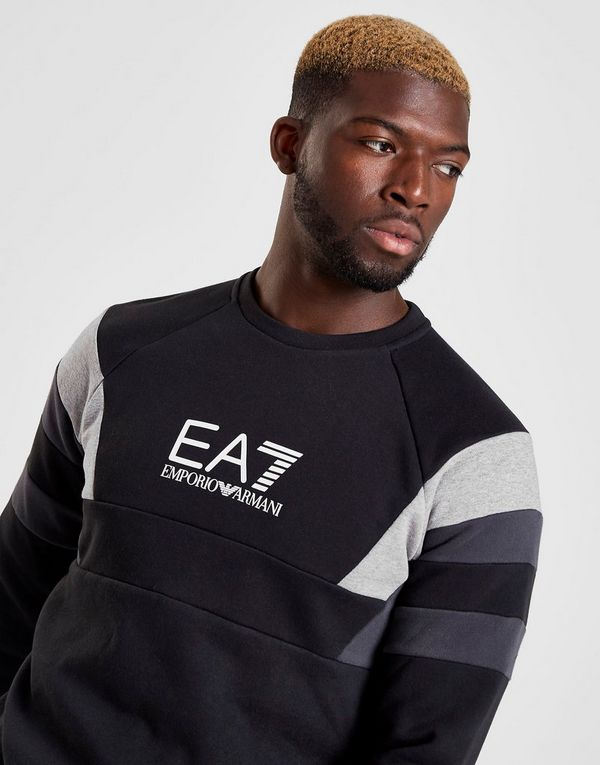 Emporio Armani EA7 Multi Panel Crew Sweatshirt Heren