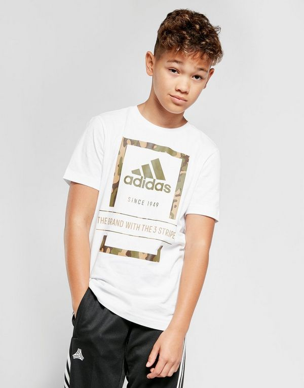 adidas Badge Of Sport Camo Outline T-Shirt Junior