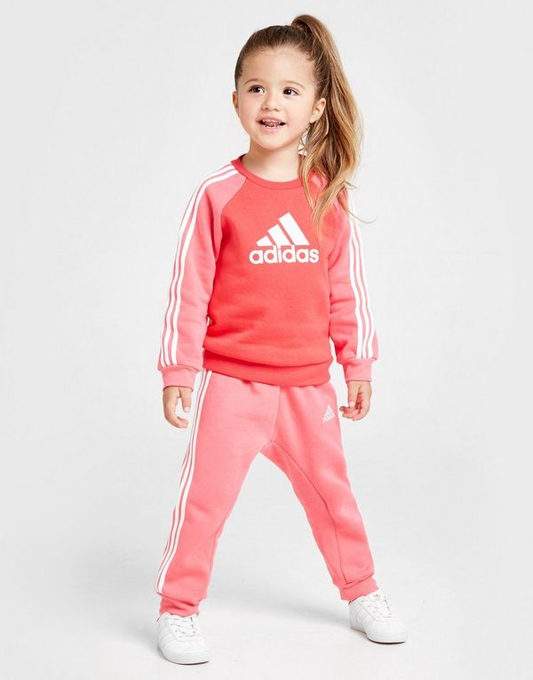 5f9dcdf7ed adidas Girls' Logo Crew Suit Infant