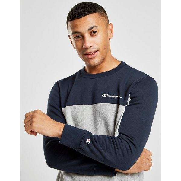 Champion Colour Block Crew Sweatshirt Heren