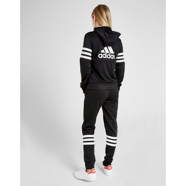 adidas Girls' 3-Stripes Badge Of Sport Poly Suit Junior