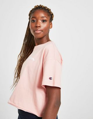 Champion Crop Script T-Shirt