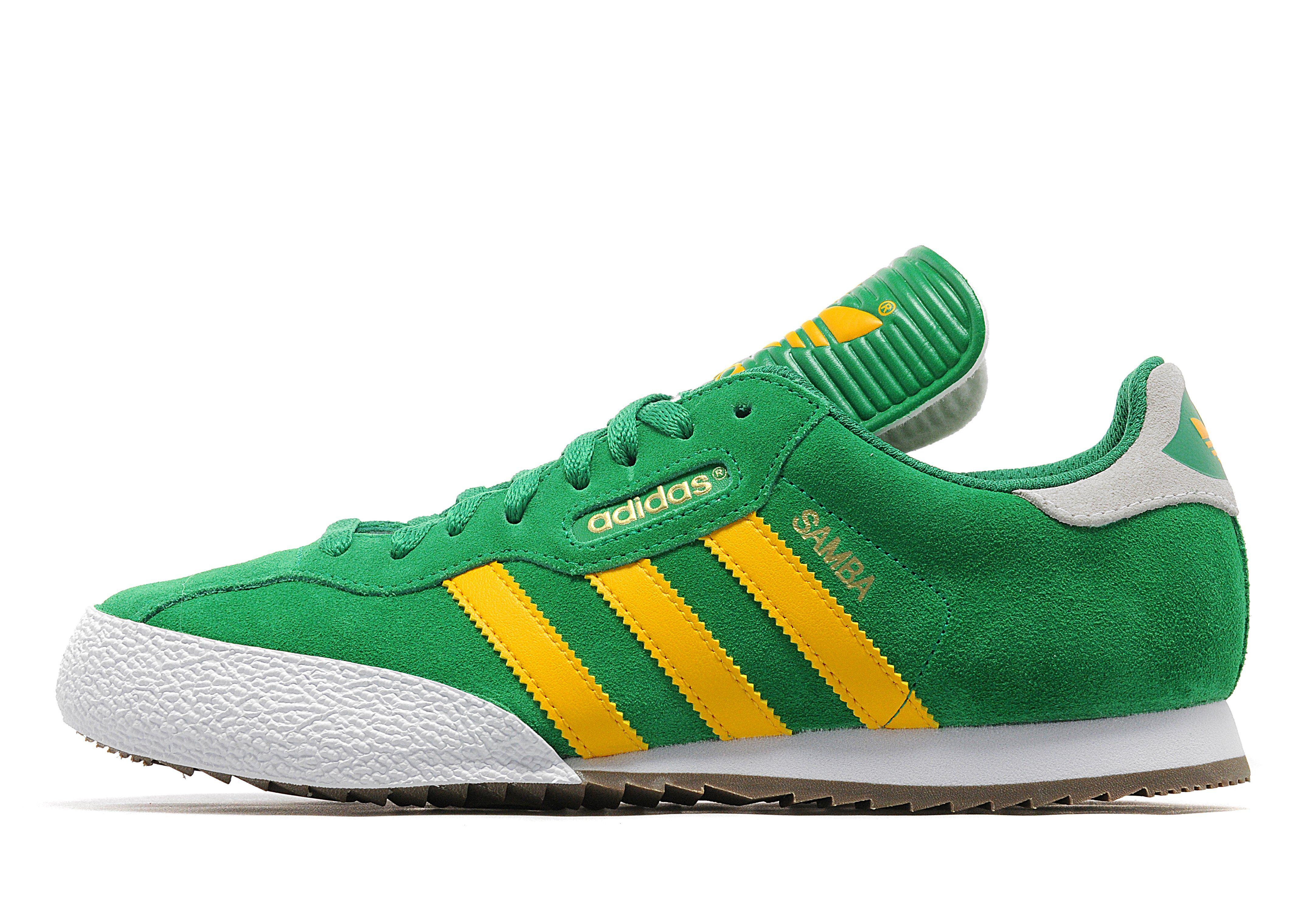 adidas originals samba super grey and yellow