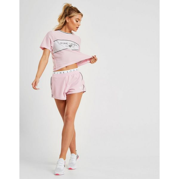 Pink Soda Sport Colour Block Mesh T-Shirt