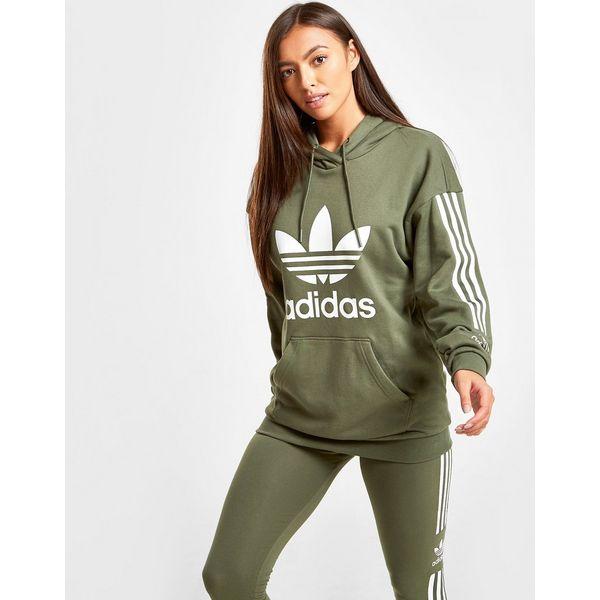adidas Originals 3-Stripes Lock Up Boyfriend Hoodie Dames