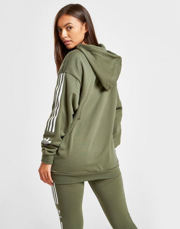 adidas Originals 3-Stripes Lock Up Boyfriend Hoodie Dames ...