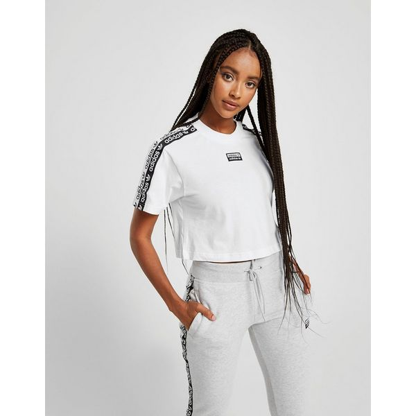 adidas Originals T-Shirt Tape Crop Femme